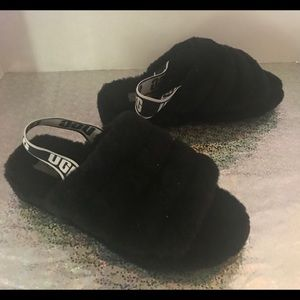 UGG Shoes - UGG Fluff Yeah Slides Plush Fut Slides Black 8